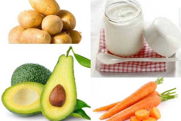 Cách làm sinh tố bơ, cà rốt và khoai tây